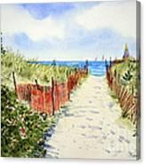 Path To East Beach-watch Hill Ri Canvas Print
