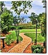 Garden Path To Wild Marsh Canvas Print