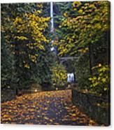 Path To Multnomah Falls Canvas Print