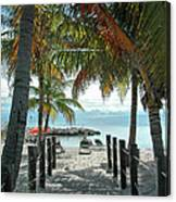 Path To Smathers Beach - Key West Canvas Print
