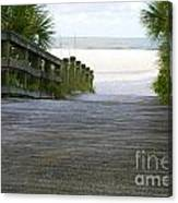 Path To The Empty Beach Canvas Print
