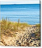 Path To The Lake Superior Beach Canvas Print