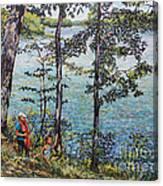 Path To The Lake Canvas Print