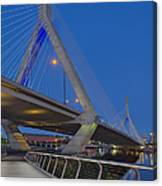 Path To The Leonard P. Zakim Bridge Canvas Print