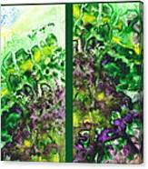 Path To The Unknown Diptych In Green Canvas Print
