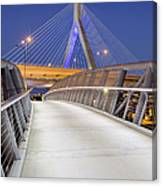 Path To The Zakim Bridge Canvas Print