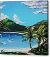 Path To White Bay  Canvas Print