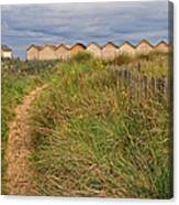 Pathway To The Cabanas Canvas Print