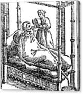 Patient And Nurse, 1646 Canvas Print