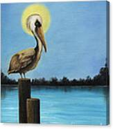 Patiently Fishing Canvas Print