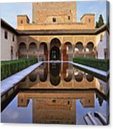 Patio De Los Arrayanes La Alhambra Canvas Print