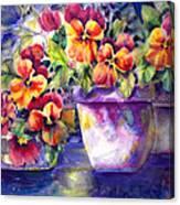 Patio Pansies Canvas Print