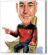 Patrick Stewart As Jean-luc Picard Canvas Print