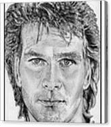 Patrick Swayze In 1989 Canvas Print