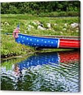 Patriotic Canoe #1 Canvas Print