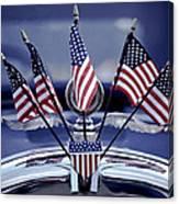 Patriotic Car Canvas Print