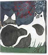 Patriotic Cats Canvas Print