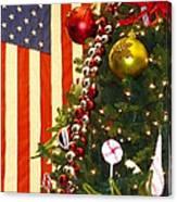 Patriotic Christmas Canvas Print