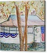 Patriotic Cottage Canvas Print