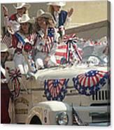 Patriotic Cowgirls Firetruck July 4th Parade Prescott Arizona 2002 Canvas Print