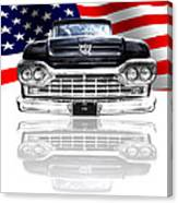 Patriotic Ford F100 1960 Canvas Print
