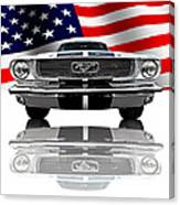 Patriotic Ford Mustang 1966 Canvas Print