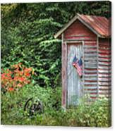 Patriotic Outhouse Canvas Print