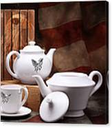 Patriotic Pottery Still Life Canvas Print