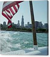 Patriotic Skyline Canvas Print