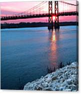 Patriotic Sunset Thru Bridge Canvas Print