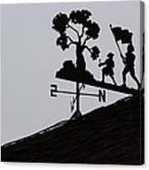 Patriotic Weathervane Canvas Print