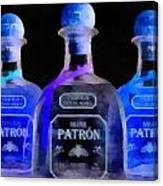 Patron Tequila Black Light Canvas Print