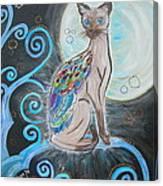 Patronus Cat Canvas Print