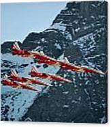 Patrouille Suisse Vll Canvas Print