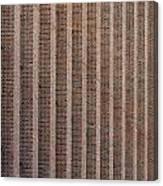 Patterend Brick Facade Canvas Print