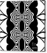 Pattern Black White Abstract Art No.293. Canvas Print