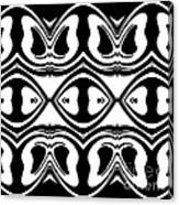 Pattern Black White Geometric Art No.188. Canvas Print