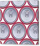Pattern Drink Cans Canvas Print