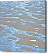 Pattern In Mud Flats At Low Tide In Kachemak Bay From Homer Spit-alaska Canvas Print