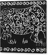 Patterned Rhino Canvas Print