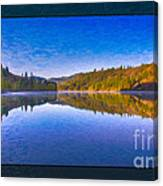 Patterson Lake Fall Morning Abstract Landscape Painting Canvas Print