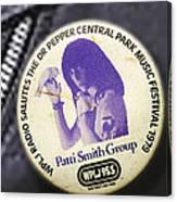 Patti Smith '79 Canvas Print