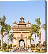 Patuxai Gate - Vientiane - Laos Canvas Print