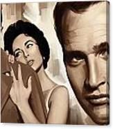Paul Newman Artwork 2 Canvas Print
