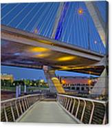 Paul Revere Park And The Zakim Bridge Canvas Print