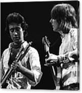 Paul And Mick In Spokane 1977 Canvas Print