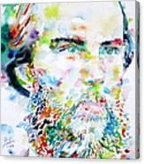 Paul Verlaine - Watercolor Portrait.2 Canvas Print
