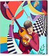 Paul With Out  Numbers Canvas Print