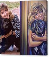 Paula Commissioned Portrait Side By Side Canvas Print