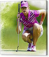 Paula Creamer Lines Up Her Putt Canvas Print